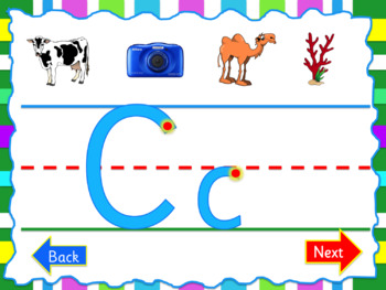 FREE version - Learning Letter Formation PPT - Smart board Activities