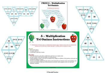 FREE x5 Multiplication Tri Ominos Game