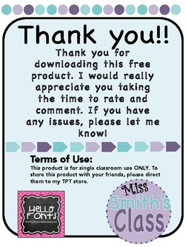 FREEBIE All About Me Worksheet