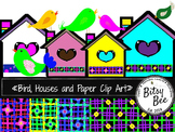 FREEBEE  Birds, Houses and Digital papers. (Bitsy Bee Clip Art)