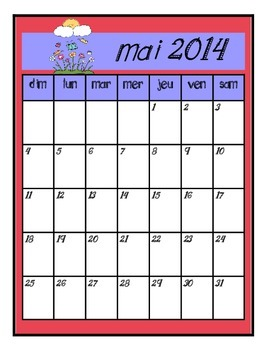 FREEBEE: Cute French Calendar Pages 2014 Color and Black a