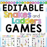 FREEBEE Editable Snakes and Ladders Center Games