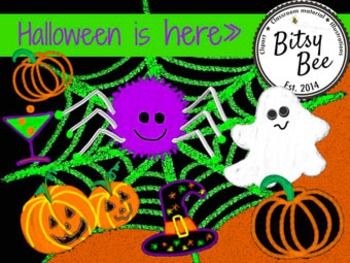 "FREEBEE  ""Halloween is Here"" Chalk and Glow.  (Bitsy Bee Clip Art)"
