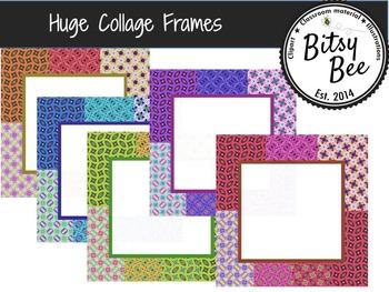 Huge Collage Frames  (Bitsy Bee Clip Art)