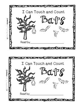 FREEBIE I Can Touch and Count Bats {Emergent Reader}