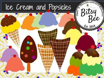 FREEBEE  Ice Cream and Popsicles  (Bitsy Bee Clip Art)
