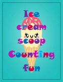 FREEBIE!!! MATH- Fun with paint Ice cream scoop counting a