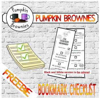 FREEBIE Bookmark Writing Checklist