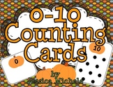 {FREEBIE} 0-10 Counting Cards {pumpkin theme}