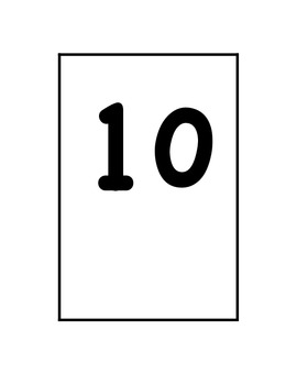 FREEBIE #1-20 Number Cards