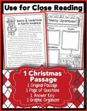FREEBIE: Holidays Around the World: Santa Close Reading Passage CC Aligned