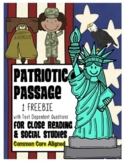 FREEBIE: 1 Passage for Social Studies Close Reading about 9/11 (September 11th)
