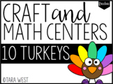 FREEBIE 10 Turkeys Math Centers + Turkey Craft