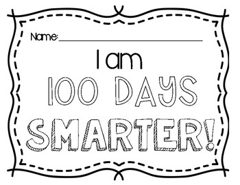 FREEBIE- 100 Days Smarter- 100th Day of School