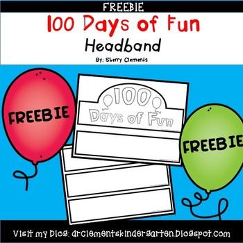 FREEBIE 100th Day of School Headband