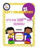 FREEBIE 100th Days of School Foldable Booklet