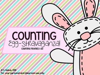 FREEBIE 10s Frames - Counting Egg-Stravaganza