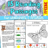 FREEBIE - 15 Reading Passages for 2nd or 3rd Graders