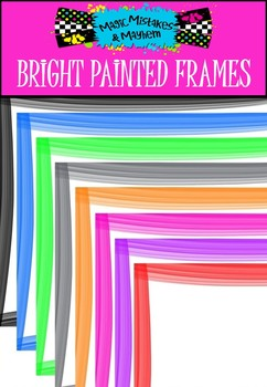 FREEBIE! 16 Bright Painted Frames
