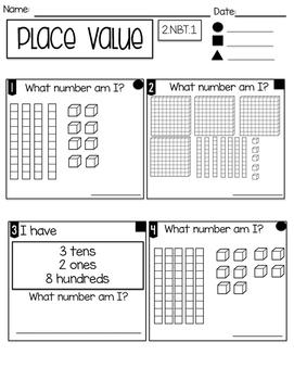 FREEBIE! 2 CC Math Assessments for Second Grade [English & Spanish]