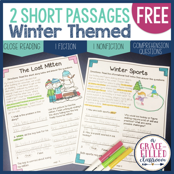 FREEBIE Winter Themed Passages