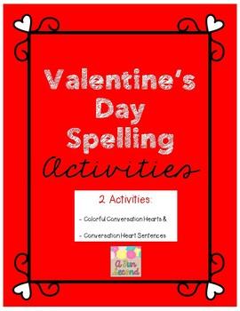 FREEBIE 2 Valentine's Day Spelling Activities
