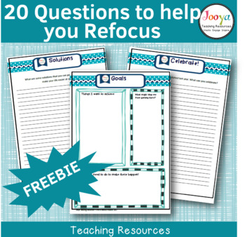 FREEBIE- 20 Questions to Help You Refocus
