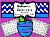 2019-2020 Editable Behavior Calendars