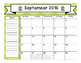 FREEBIE! 2016-17 Teacher Calendar