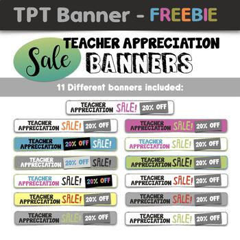 FREEBIE: Teacher Appreciation Sale Banners