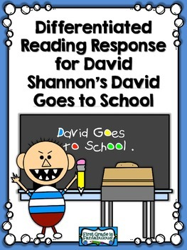 {FREEBIE} Reading Response for David Goes to School