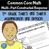 Math Constructed Response - 5th Grade Multiplication and Division
