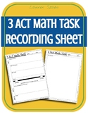 FREEBIE 3 Act Math Task Recording Sheet