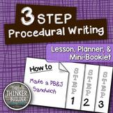 FREEBIE: 3-Step Procedural Writing {Lesson & Mini-Book}