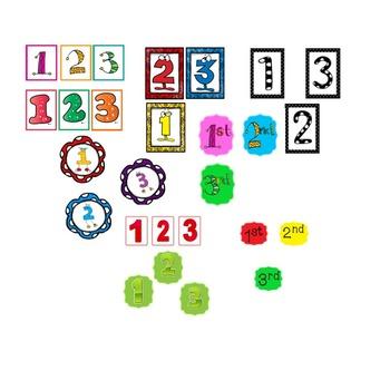 FREEBIE! 3 Step numbers in various fonts PLUS Color, Cut,