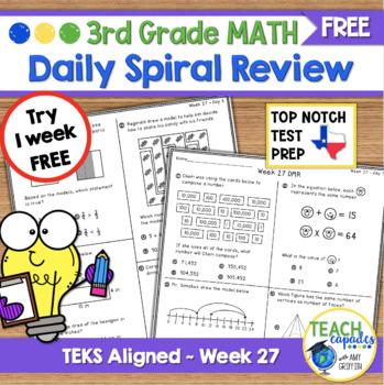 Spiral Review Math Freebie 2