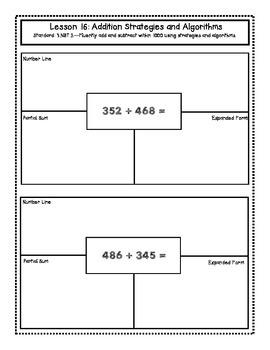FREEBIE - 3rd Grade Engage NY Interactive Math Notebook Module 2