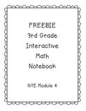 FREEBIE! 3rd Grade Interactive Math Notebook Module 4