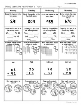 FREEBIE: 3rd Grade Math Spiral