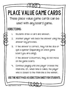 {FREEBIE} 4.NBT.1: Place Value Game Cards