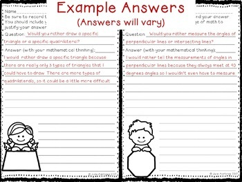 FREEBIE, 4th Grade Math Geometry Would You Rather Questions