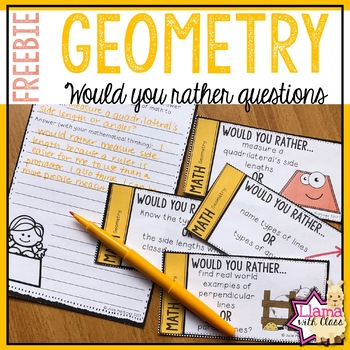 Geometry Would You Rather Questions Freebie