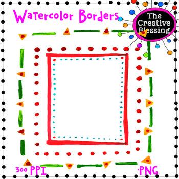 Watercolor Borders Clip Art