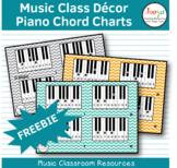 Music Class Decor - Piano Chord Charts