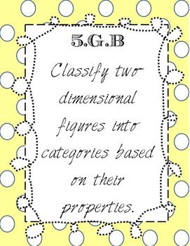 FREEBIE 5th Grade Geometry standards
