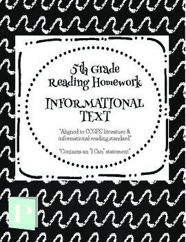 *FREEBIE* 5th Grade Informational Homework