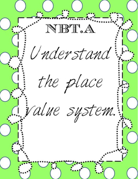 FREEBIE 5th Grade Number and Operations Base 10
