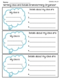 FREEBIE! 6 +1 Writing Traits: Ideas and Details Brainstorming Graphic Organizer