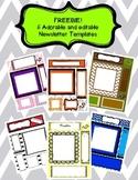 FREEBIE! 6 Editable Newsletter Templates!