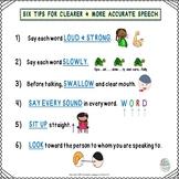 FREEBIE! 6 Speech Tips To Clearer Speech & Speech Pacing Boards